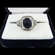 WONDERFUL Tudor-Era Unisex Silver/Black Stone Apotrapic Ring, c.1550!