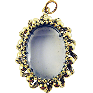 PRISTINE & ORNATE American-Made Victorian 14k Locket, 15.33 Grams, c.1850!