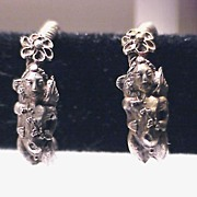 ANCIENT ROMAN Silver Eros Earrings, ca. 100 AD!