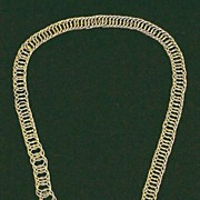 EXQUISITE Georgian 15k Canetille/Link Necklace, c.1820!