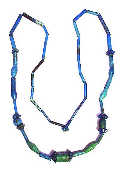ASTOUNDING Ancient Egyptian Armana Faience Necklace, c.1200 BCE!