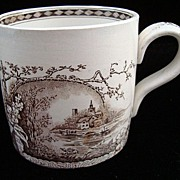 Exc Antique Aesthetic Movement Mug ~ RUSTIC 1886