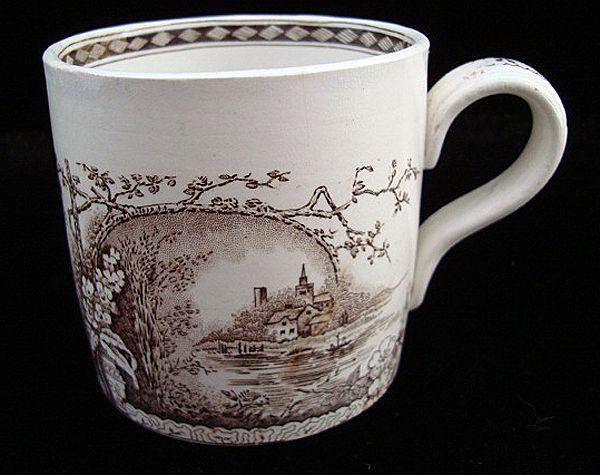 Exc Antique Aesthetic Movement Mug ~ RUSTIC 1886
