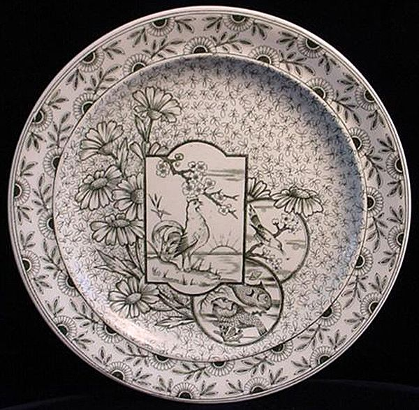 Victorian Aesthetic Plate ~ DEVONSHIRE 1885