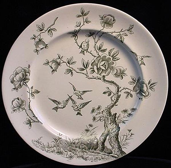 Victorian Green Aesthetic Plate ~ Japonais 1875