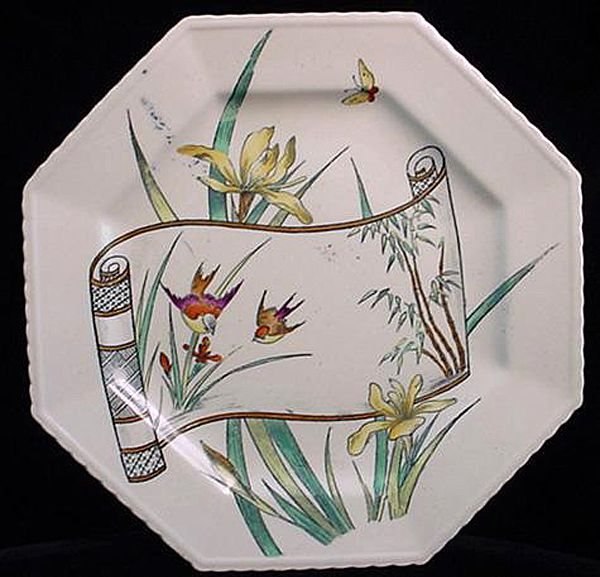 Victorian Aesthetic Movement Plate ~ Songbirds 1891