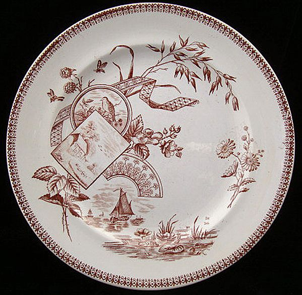 English Transferware Victorian Plate ~ TENNYSON 1884