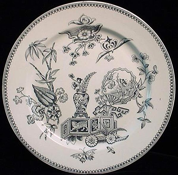 Aesthetic Transfer Oriental Cat Plate ~ 1878