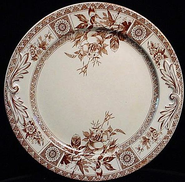 Brown Transfer Biscuit Plate ~ Garfield 1885