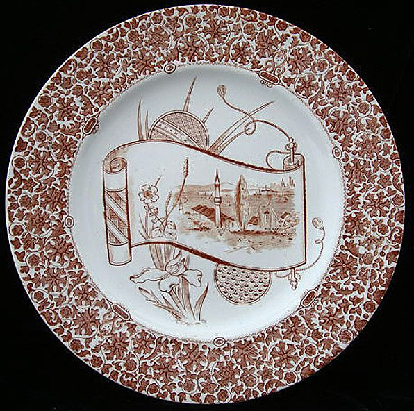 English Aesthetic Transferware Plate ~ CAIRO 1885