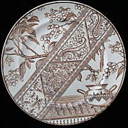 Brown Transferware Aesthetic Plate ~ CHESTERFIELD 1886