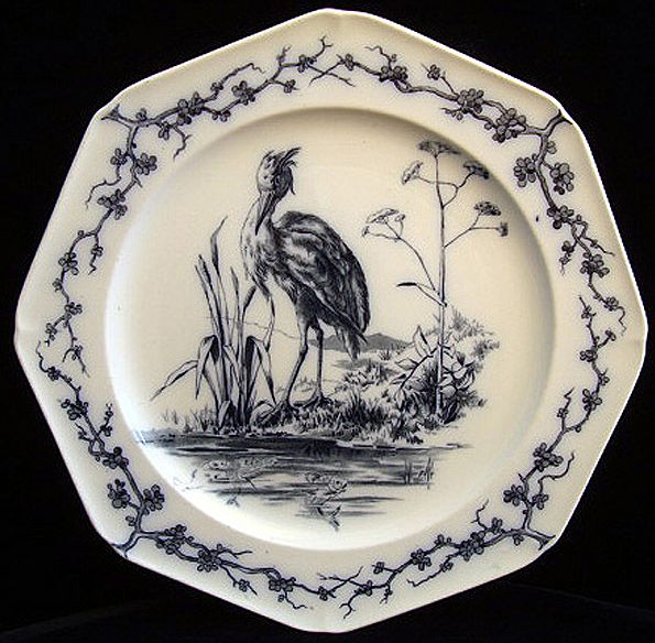 Fontaine's Fables ~ Proud Heron and the Fish 1880