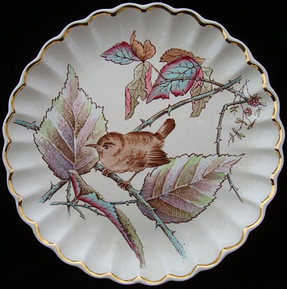 Copeland Transfer Plate ~ Colored Bird 1885