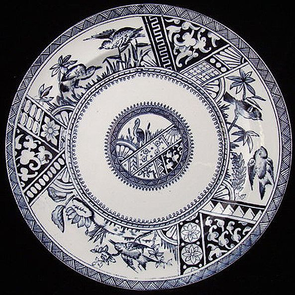 Dark Blue Aesthetic Transferware Plate ~ CONGO 1883