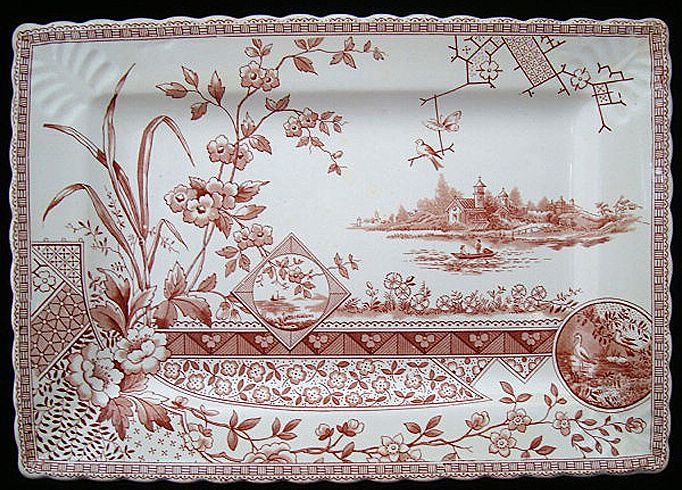Bengal Shape Aesthetic Movement Era Platter ~ 1890