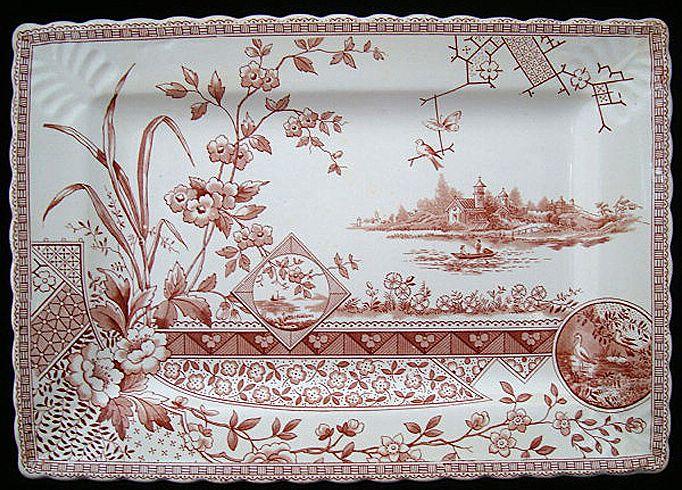Bengal Shape Aesthetic Movement Era Platter ~ 1890