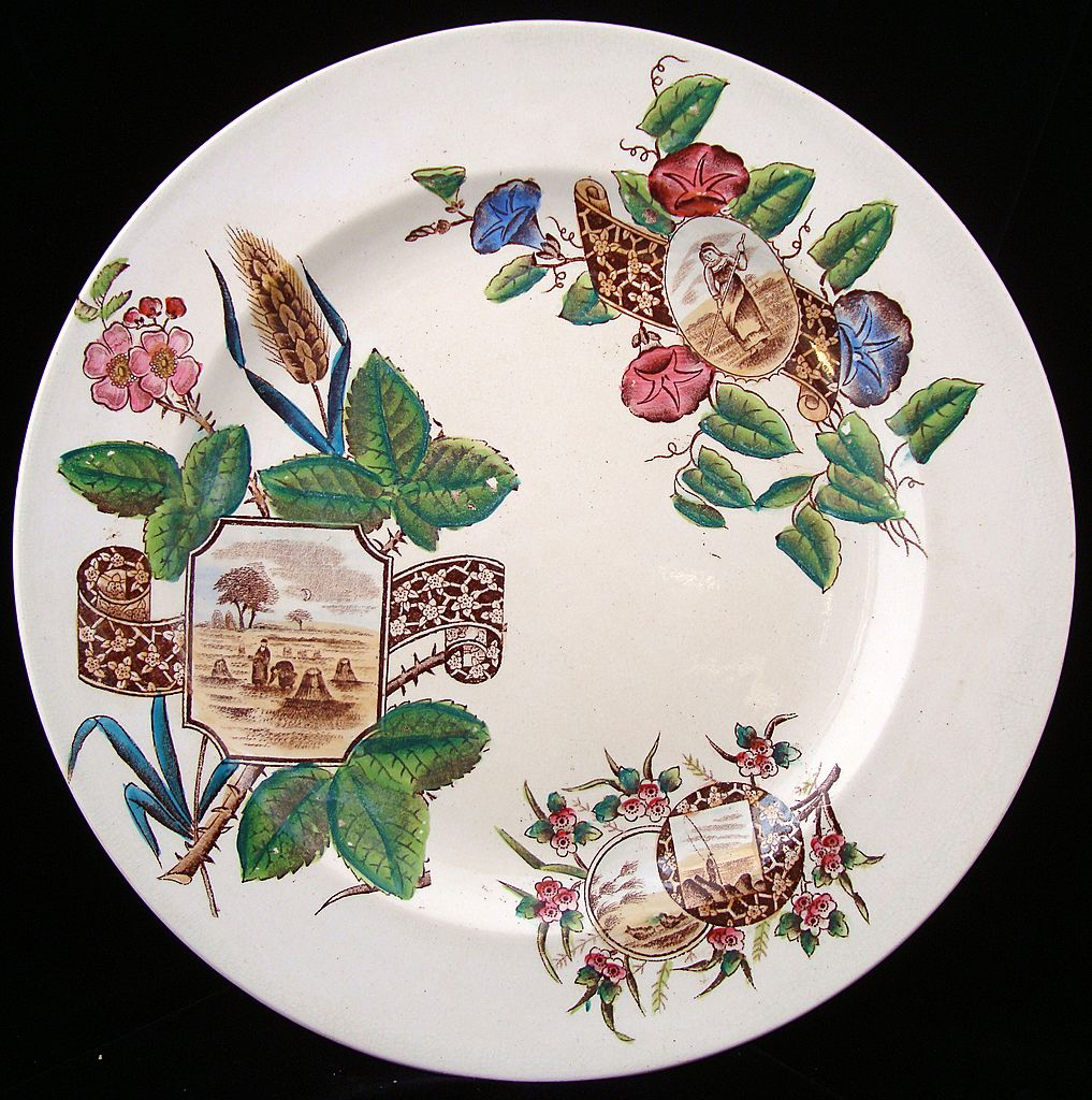 Aesthetic Transfer Plate ~ Harvest Maiden 1887