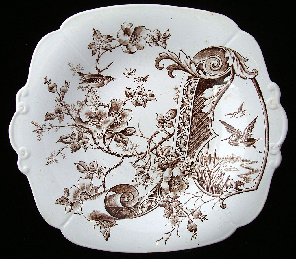 Aesthetic Victorian Biscuit / Cake Plate ~ 1884