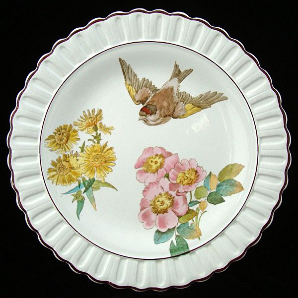 Wedgwood Victorian Polychrome Plate 1884
