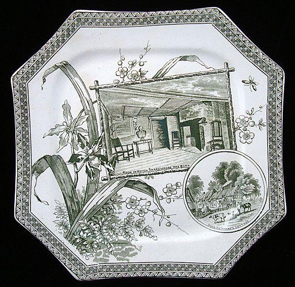 Green Transfer Plate ~ Shakespeare & Hathaway 1884