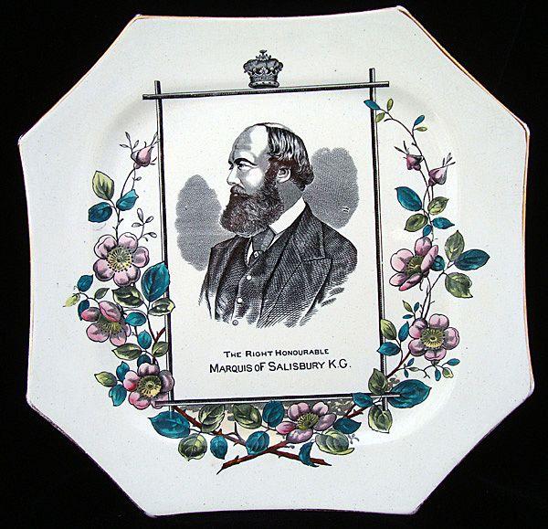 Portrait Plate ~ Marquis of Salisbury 1884
