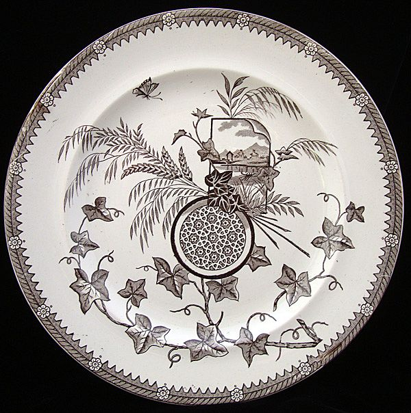 Superb English Transferware Plate ~ YESSO 1884