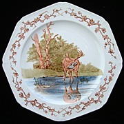 Fontaine's Fables ~ Stag & Reflection Plate 1880