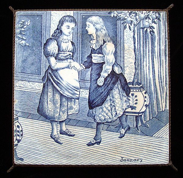 Wedgwood January Months Tile Trivet 1879