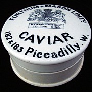 English Victorian CAVIAR Pot and Lid ~ 1890