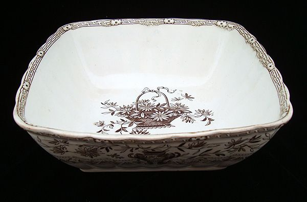 19th Century Victorian Fruit Bowl ~ HONFLEUR 1884
