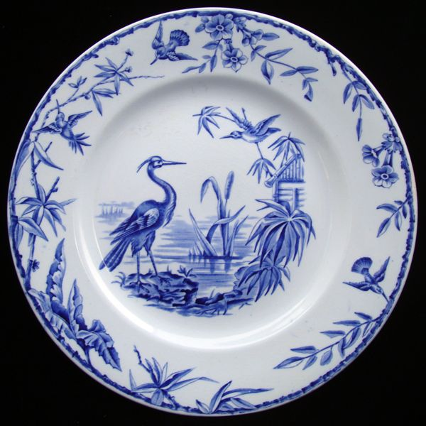 Large Blue Staffordshire Transfer Plate ~ INDUS 1885