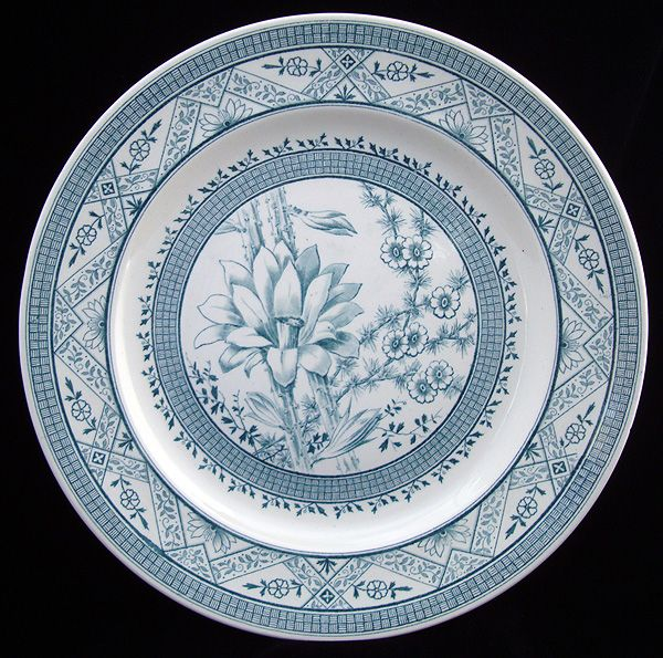 SUPERB Aesthetic Movement ORCHID Plate 1883
