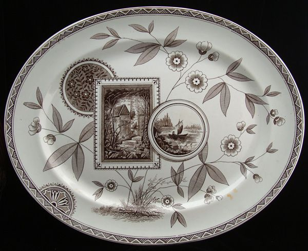 HUGE Aesthetic Movement English Platter ~ PERAK 1885