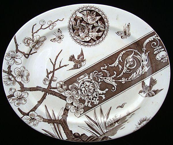 Brown Victorian Platter ~ PANDORA 1885