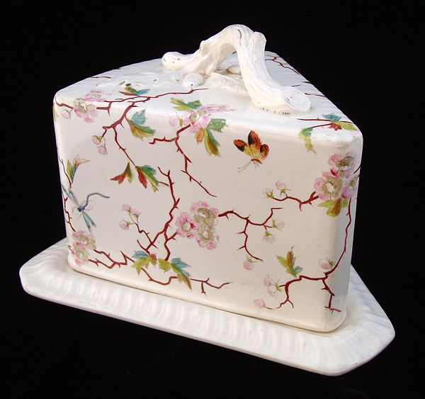 Rare Large Aesthetic Polychrome CHEESE KEEP 1880