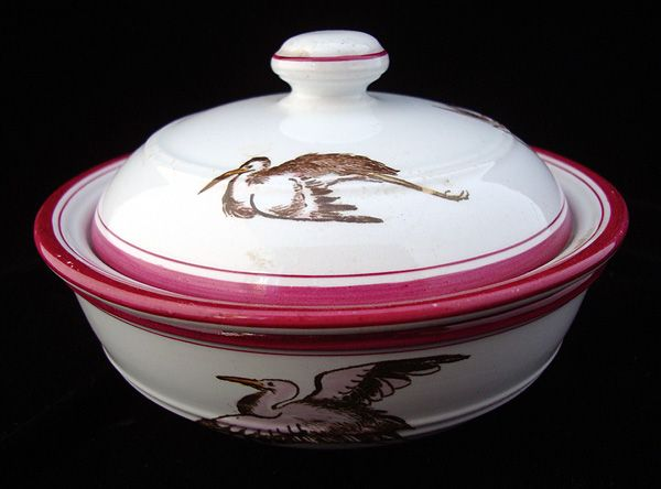 Elegant Transfer Printed Soap Dish ~ STORK 1864