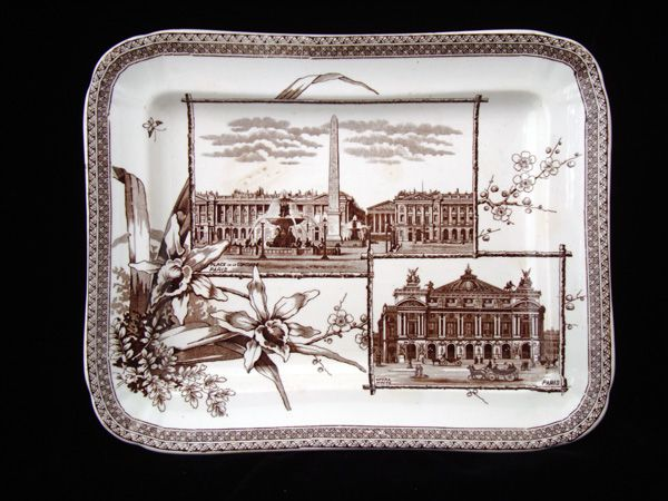 Historical Transferware Platter ~ PARIS 1884