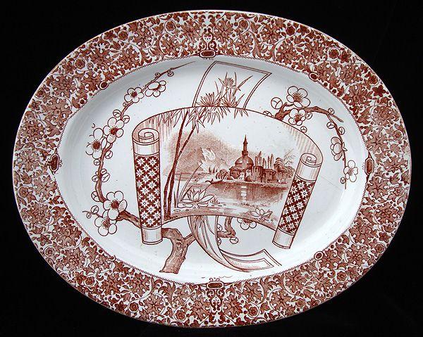 English Victorian Platter ~ CAIRO 1885
