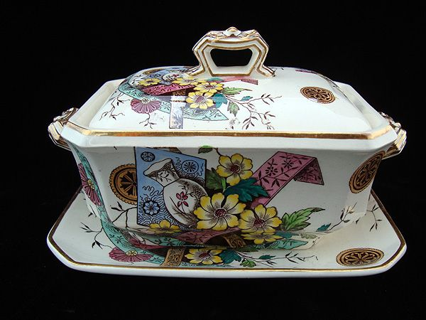 19th Century Polychrome Tureen & Platter ~ SAIGON 1883