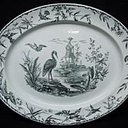 LARGE Staffordshire Aesthetic Movement Platter ~ INDUS 1877