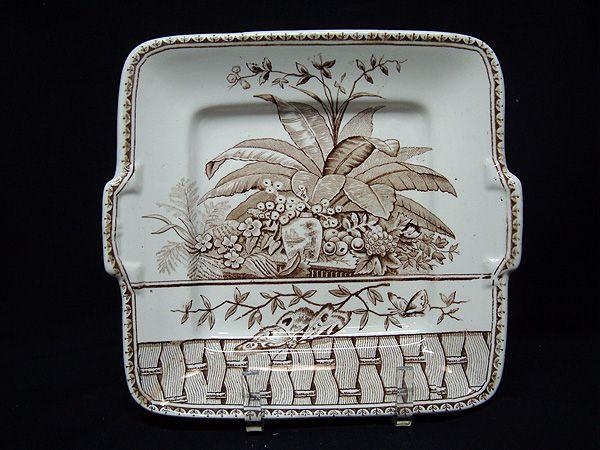 Aesthetic Movement English Cake Plate ~ BRAZIL 1885