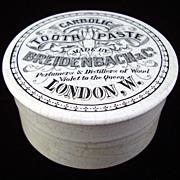 Rare Carbolic Quack Medicine Tooth Paste Pot and Lid 1885