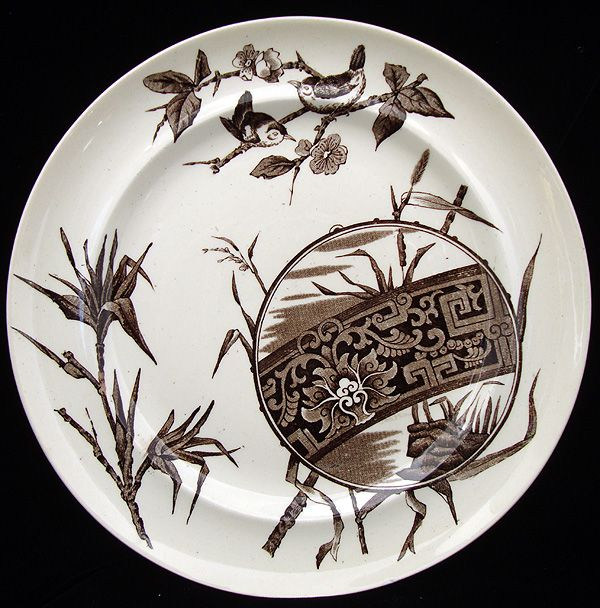 Superb English Aesthetic Movement Plate ~ CHOCO 1880