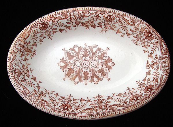 Brown Transfer Printed Serving Tray ~ TOURNAY 1890