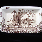 Brown Aesthetic Serving Tray Platter ~~ RUSTIC 1886