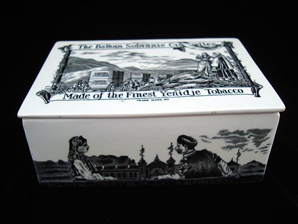 Rare Ceramic Sobranie TOBACCO Box ~ 1880