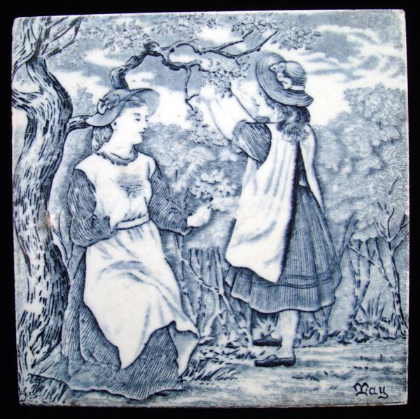 Tile ~ Wedgwood Months ~ MAY 1879
