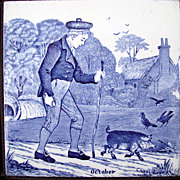 Wedgwood October Months Tile 1879