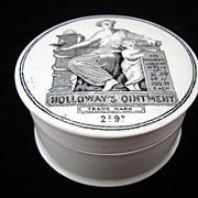 Quack Medicine Holloway's Ointment Cure-All Medicine Pot ~ 1880
