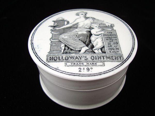 Quack Medicine Holloway's Ointment Cure-All Medicine Pot ~ 1880